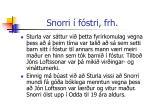 snorri f stri frh