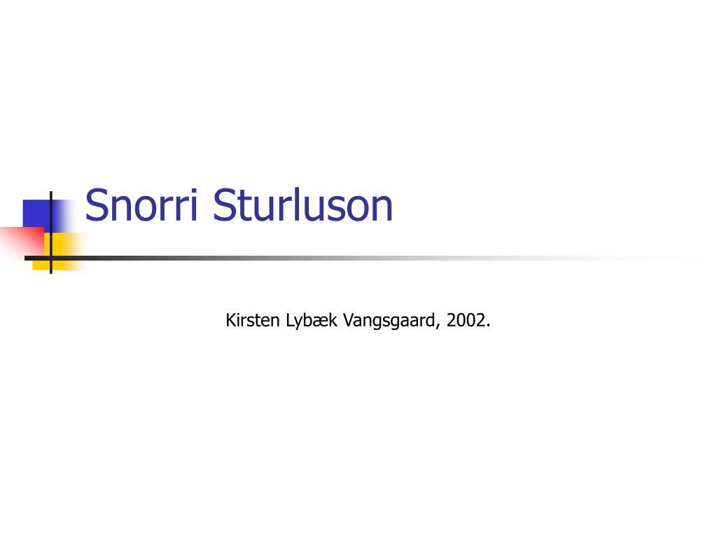 snorri sturluson l.
