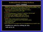 traditional practice of salting newborns case 2 abdallah
