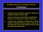 traditional practice of salting newborns conclusions