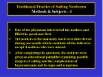 traditional practice of salting newborns methods subjects 4