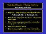 traditional practice of salting newborns recommendations