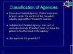 classification of agencies