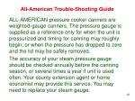 all american trouble shooting guide