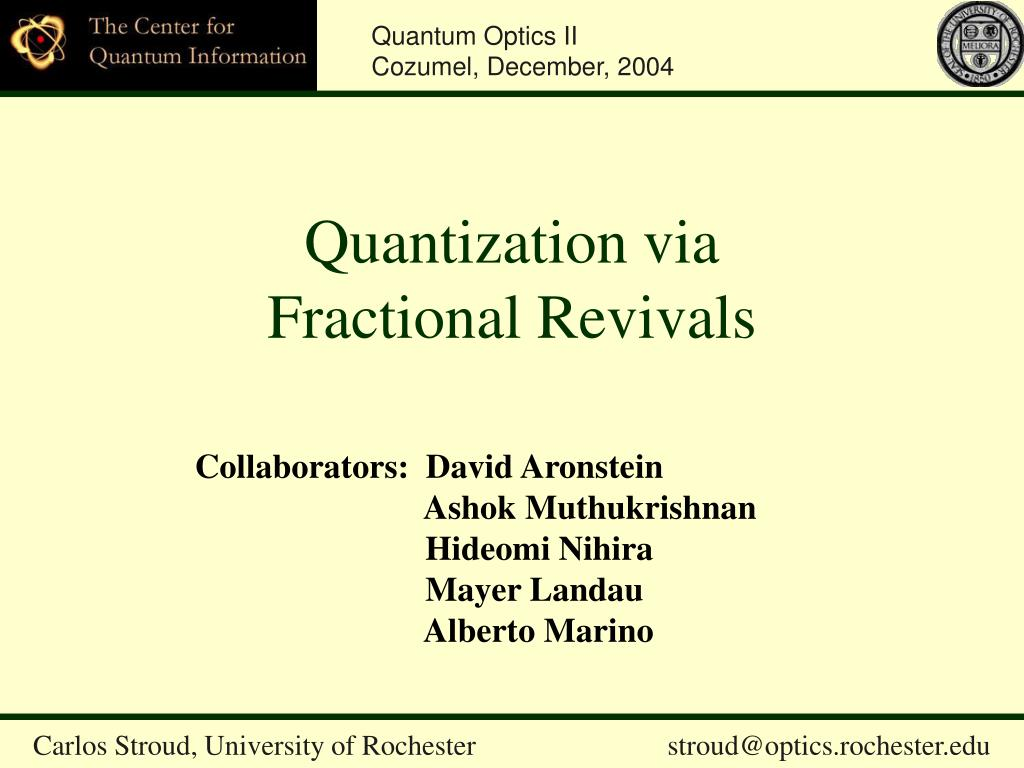 quantization via fractional revivals l.