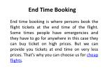 end time booking