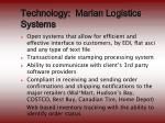 technology marlan logistics systems