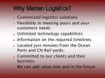 why marlan logistics