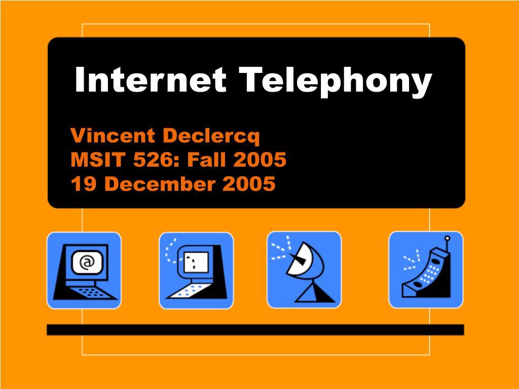 internet telephony l.