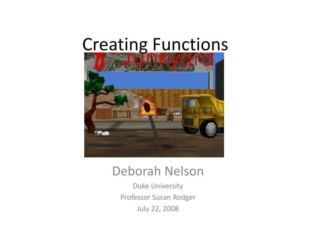 creating functions l.