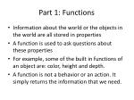part 1 functions