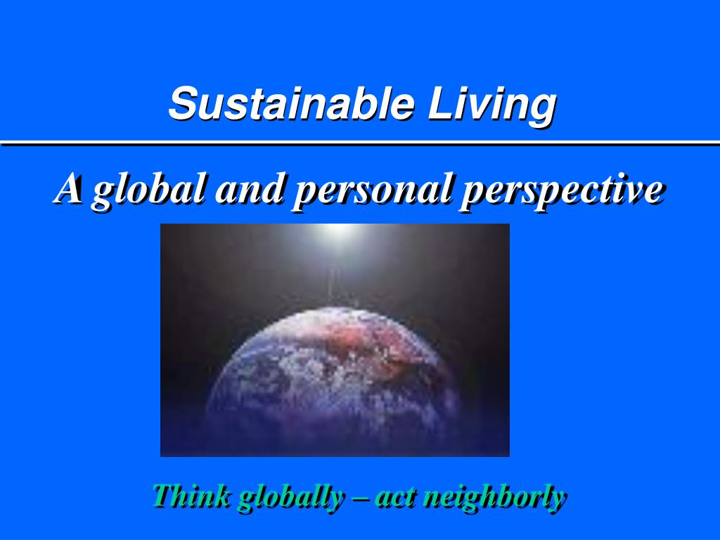sustainable living l.