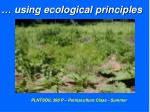 using ecological principles