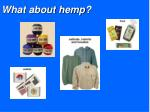 what about hemp