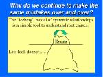 why do we continue to make the same mistakes over and over