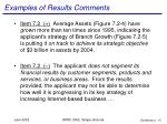 examples of results comments