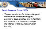 roads pavement forum rpf