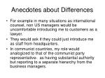 anecdotes about differences46