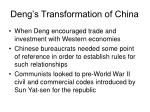 deng s transformation of china