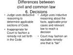 differences between civil and common law 6 decisions