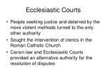 ecclesiastic courts