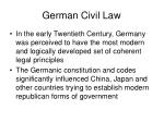 german civil law