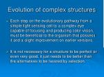 evolution of complex structures97