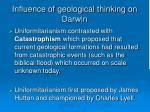 influence of geological thinking on darwin17