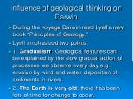 influence of geological thinking on darwin18