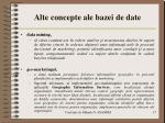 alte concepte ale bazei de date