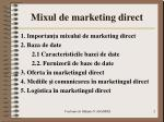 m ixul de marketing direct
