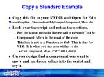 copy a standard example