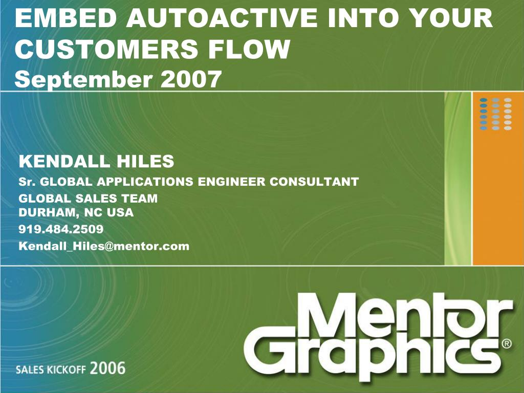 embed autoactive into your customers flow september 2007 l.
