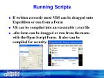 running scripts