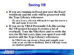 saving vb