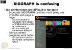 siggraph is confusing