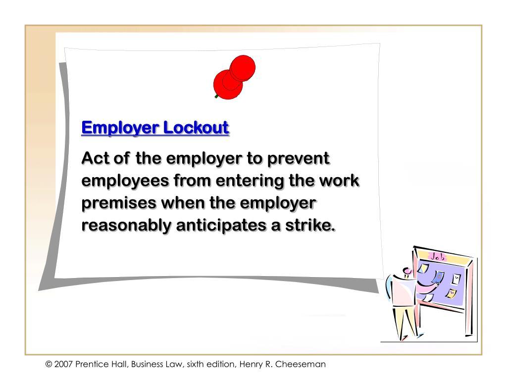 Employer Lockout