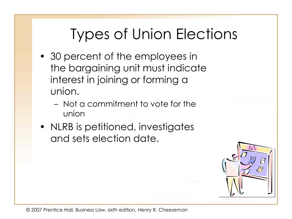 Types of Union Elections