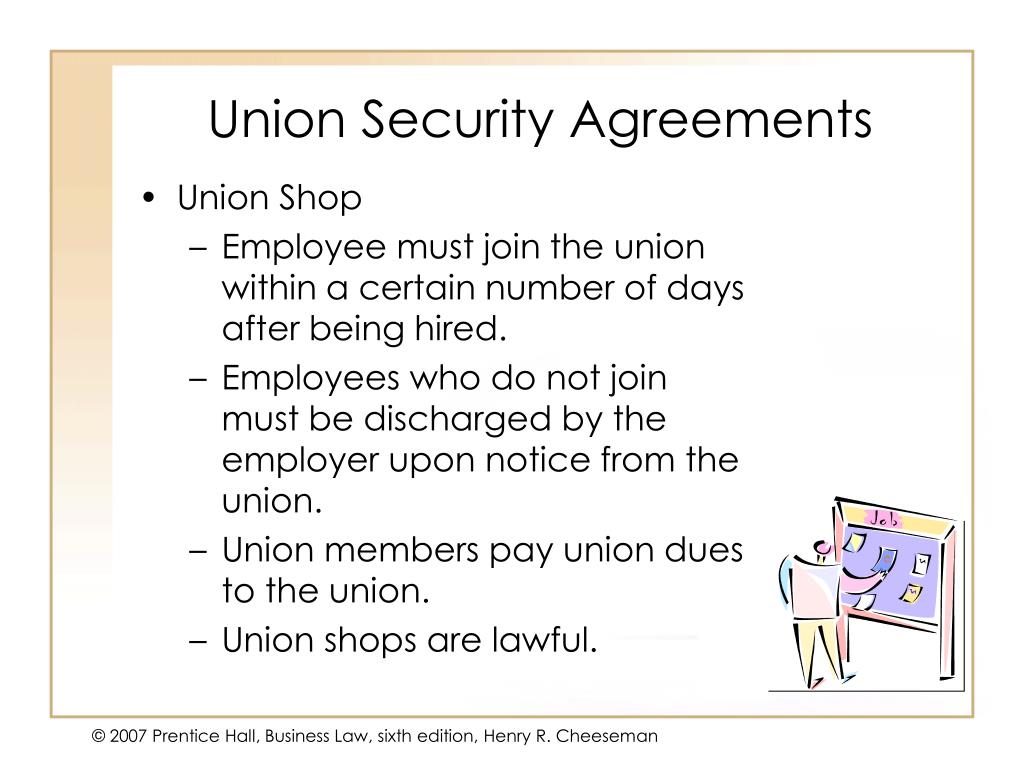 Union Security Agreements