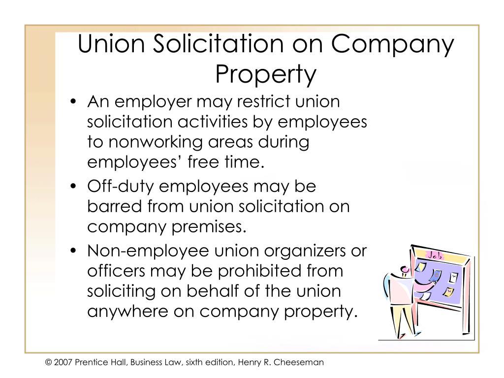Union Solicitation on Company Property