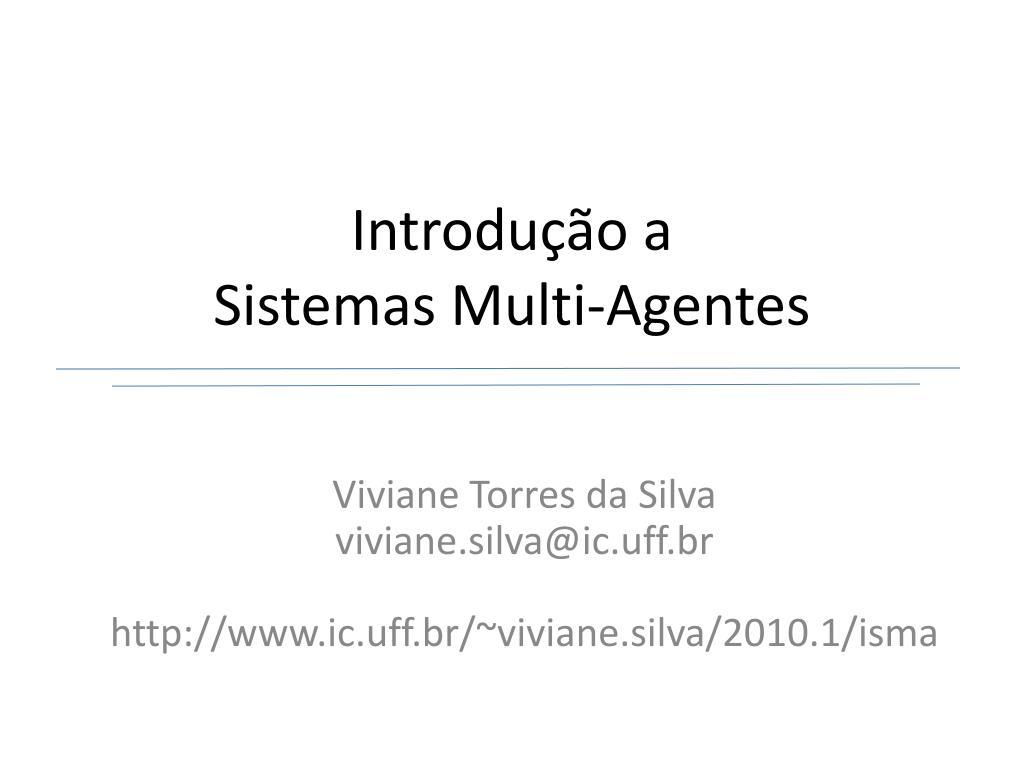introdu o a sistemas multi agentes l.