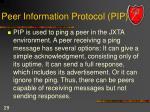 peer information protocol pip