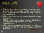 xml in jxta