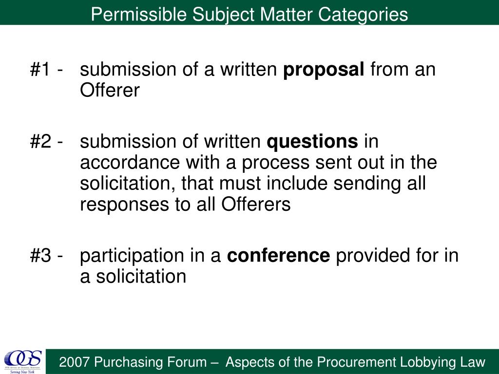 #1 - submission of a written