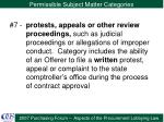 permissible subject matter categories10