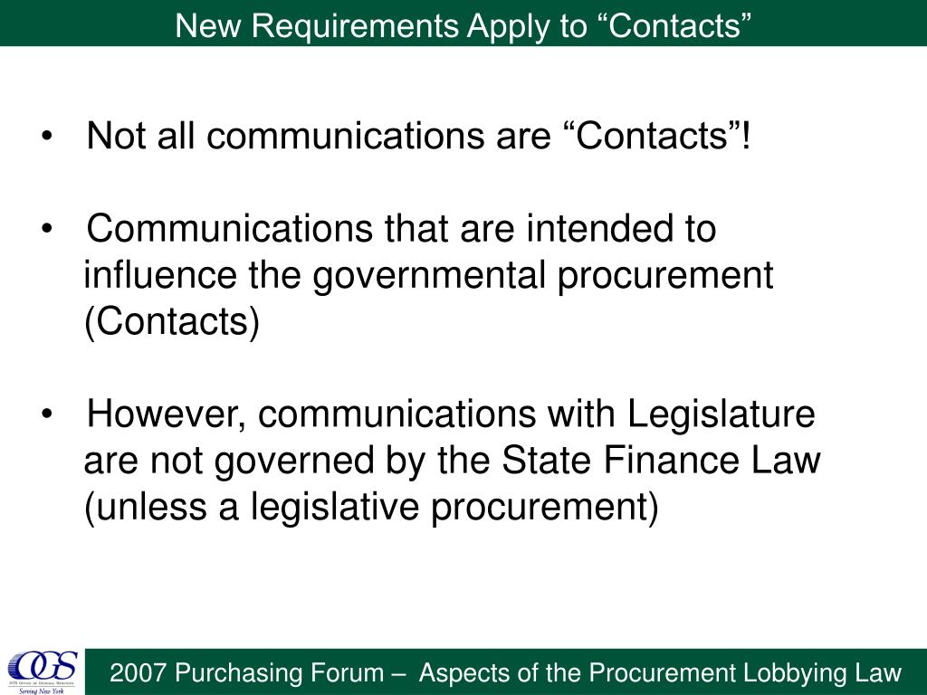"""New Requirements Apply to """"Contacts"""""""