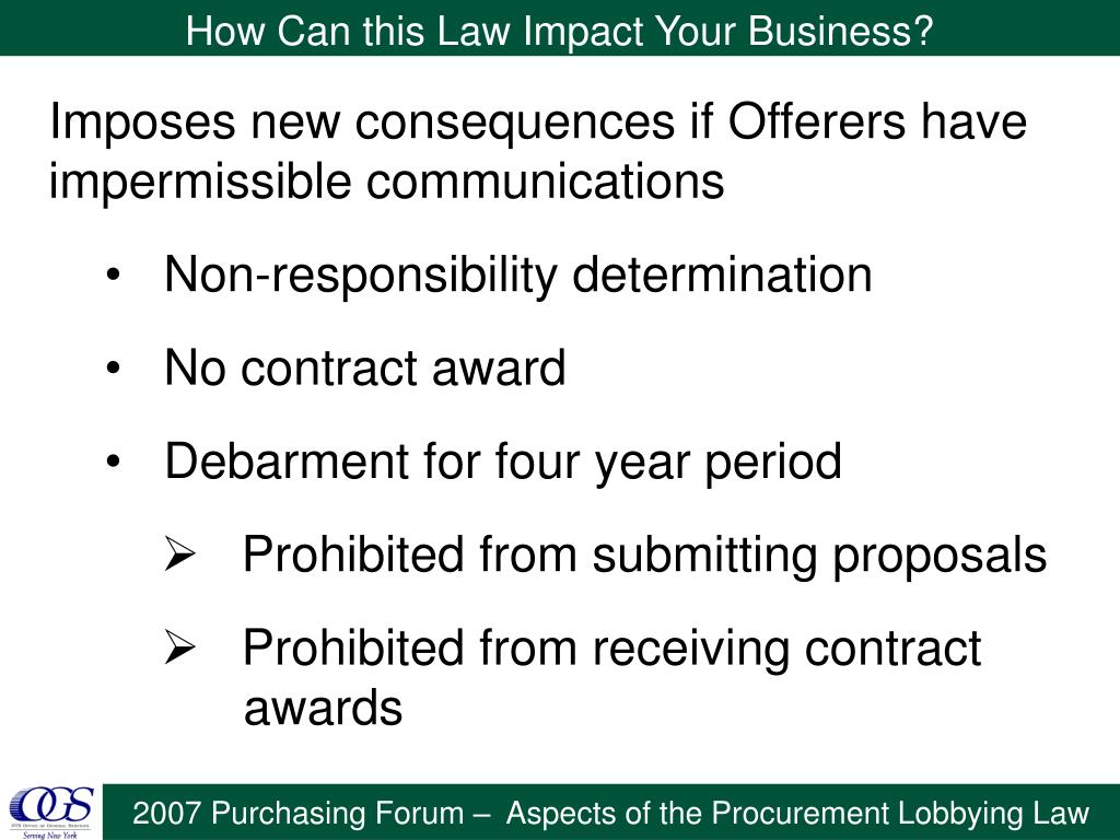 How Can this Law Impact Your Business?