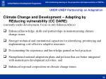 undp unep partnership on adaptation