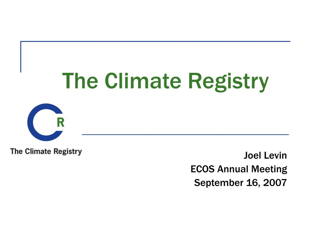 the climate registry l.