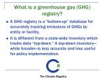 what is a greenhouse gas ghg registry